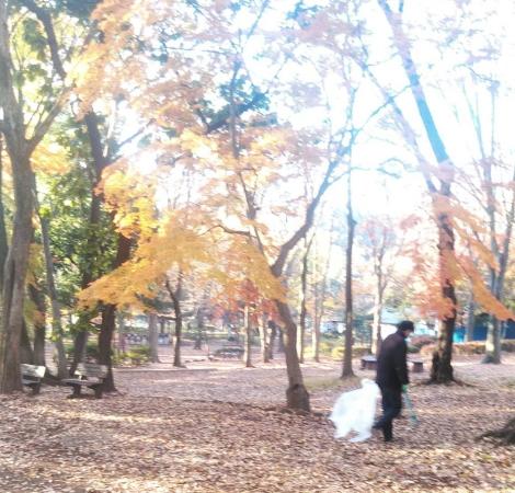 公園のゴミ拾いボランティア